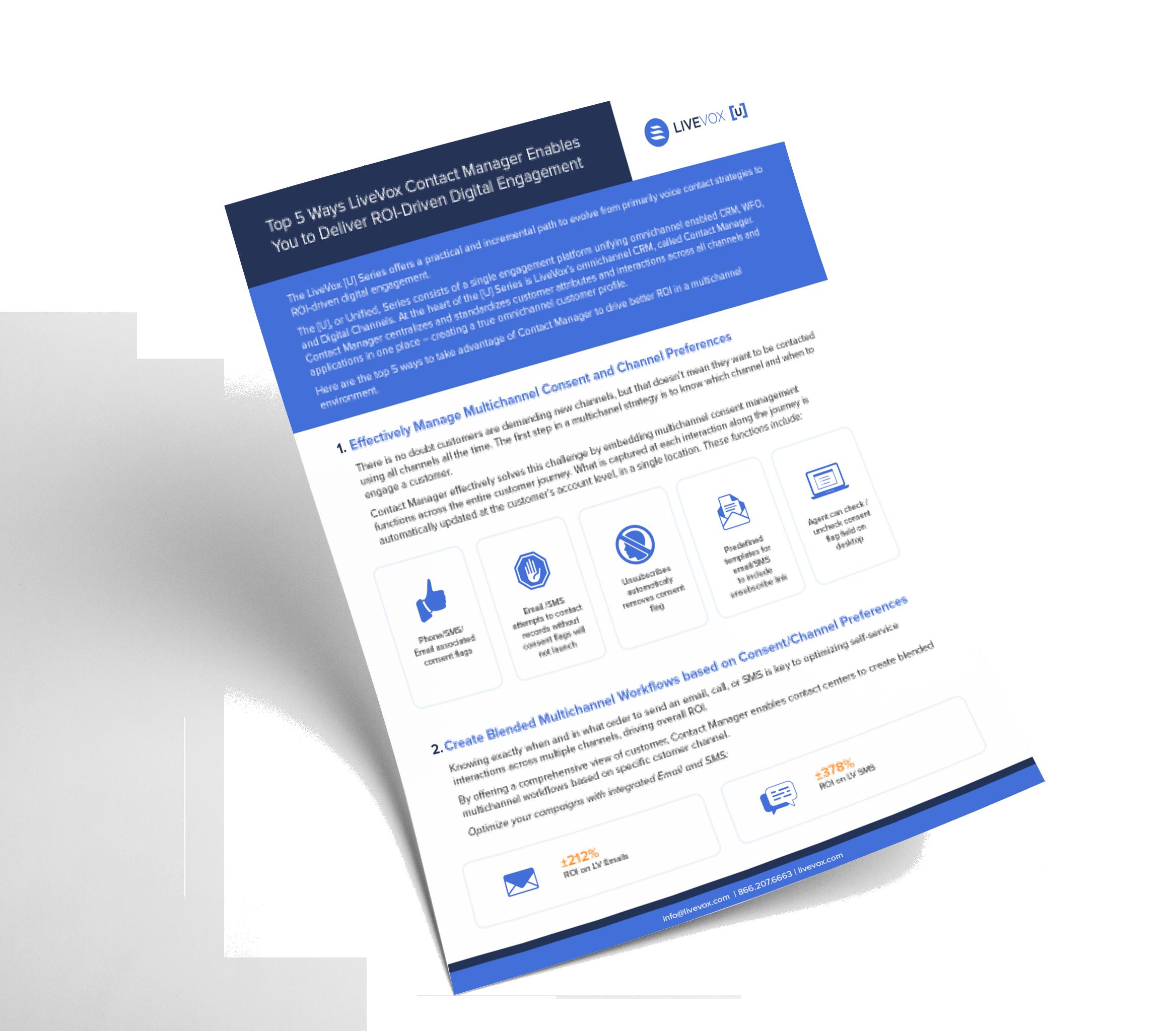 LiveVox Contact Manager Tip Sheet